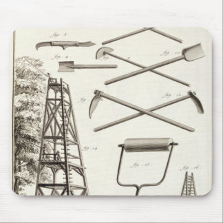 Gardening tools and a mobile pruning platform, fro mouse mat