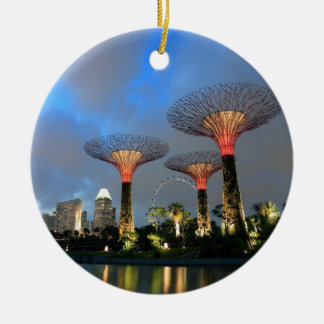 Gardens by the Bay Singapore Supertree Grove Round Ceramic Decoration