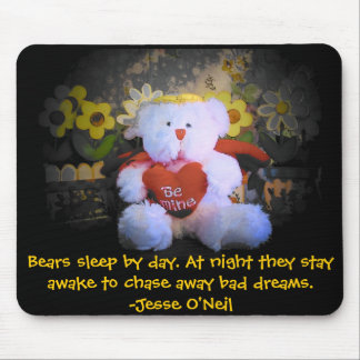 Gardian Angel teddy bear Chases Bad dreams Mouse Pad