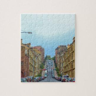 Gardner street steepest in Glasgow Jigsaw Puzzle