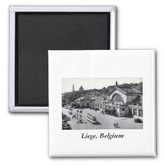 Gare des Guillemins, Liege Belgium Vintage Magnet