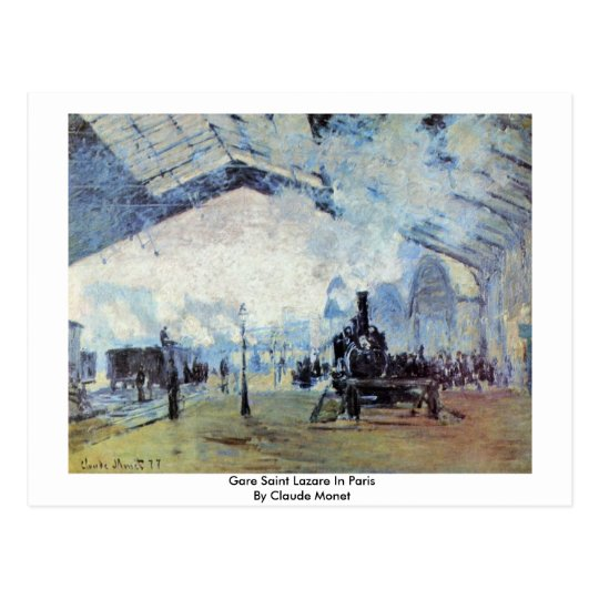 Gare Saint Lazare In Paris By Claude Monet