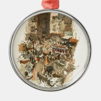 Gare Saint-Lazare Paris 1910 Christmas Ornament