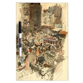 Gare Saint-Lazare Paris 1910 Dry Erase White Board