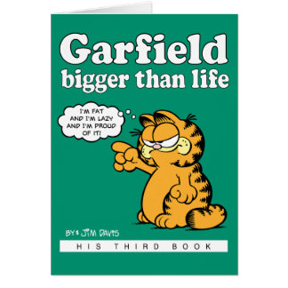 Garfield Bigger Than Life Note Card