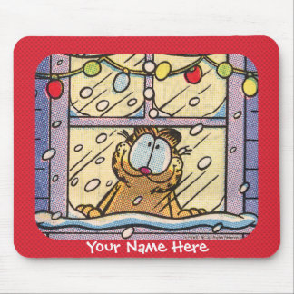 Garfield Christmas Eve Mousepad