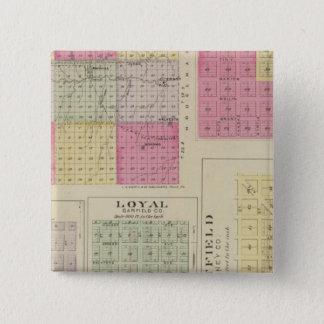 Garfield County, Creola, Ravanna, Loyal, Kansas 15 Cm Square Badge