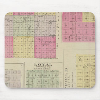 Garfield County, Creola, Ravanna, Loyal, Kansas Mouse Mat