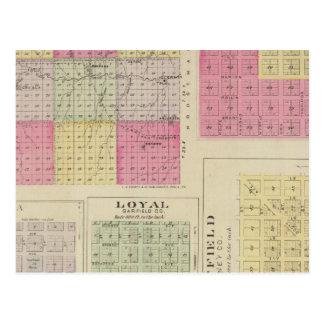 Garfield County, Creola, Ravanna, Loyal, Kansas Postcard