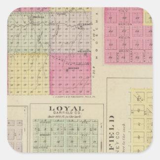 Garfield County, Creola, Ravanna, Loyal, Kansas Square Sticker