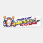 Garfield For President in 2016 Bumper Sticker