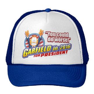 Garfield For President in 2016 Cap