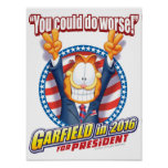 Garfield For President in 2016 Poster