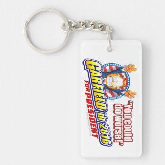 Garfield For President in 2016 Single-Sided Rectangular Acrylic Key Ring