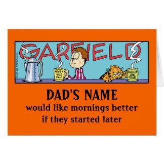 Garfield Lazy Mornings Card