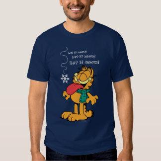 Garfield Let it Snow! Tee Shirts
