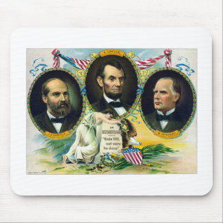 Garfield, Lincoln, and McKinley -- In Memoriam Mousepads