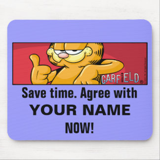 Garfield Logobox Agree Mousepad