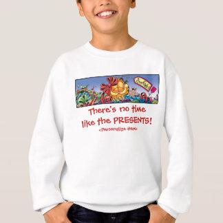 Garfield Logobox Holiday Presents Kid's Sweatshirt