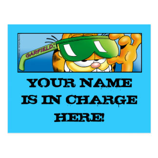 Garfield Logobox In Charge Postcards
