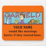 Garfield Logobox Mornings Mousepad