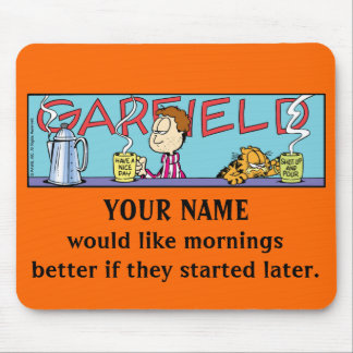 Garfield Logobox Mornings Mousepad