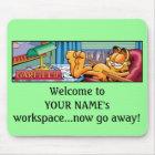 Garfield Logobox Now Go Away Mousepad
