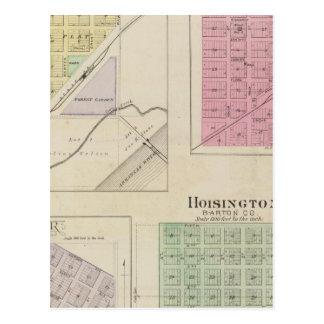 Garfield, Pawnee Rock, Heizer, Hoisington, Kansas Postcard