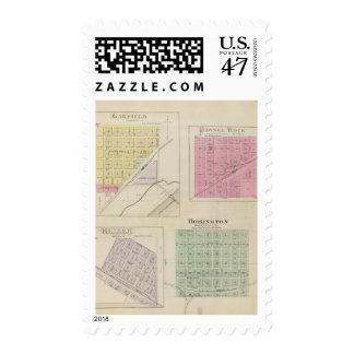 Garfield, Pawnee Rock, Heizer, Hoisington, Kansas Stamp