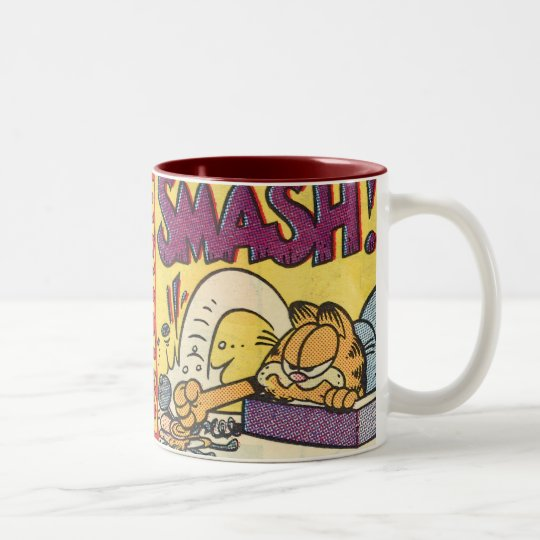 Garfield Smashing Clock, mug