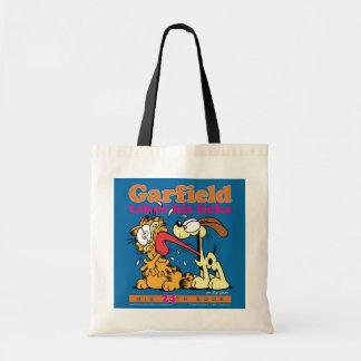 Garfield Takes His Licks Tote Bag