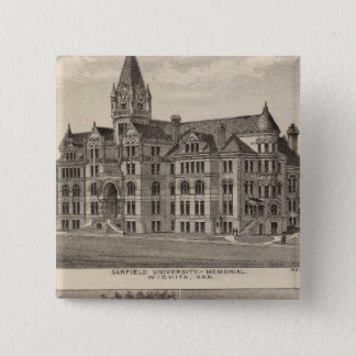 Garfield University, Kansas 15 Cm Square Badge
