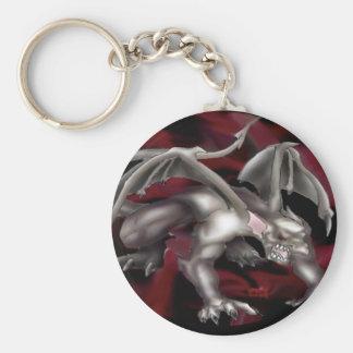 Gargoyle Basic Round Button Key Ring