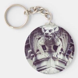 Gargoyle Button Keychain