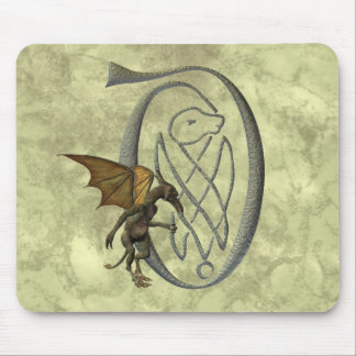 Gargoyle Decorated Initial D Mouse Pad