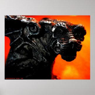 Gargoyle & Fire Poster