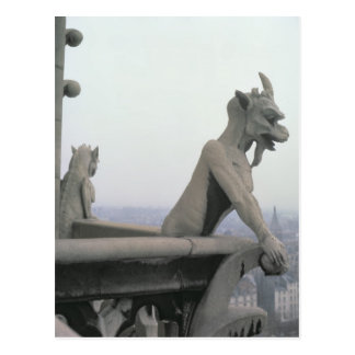 Gargoyle from the balustrade of the Grande Postcard
