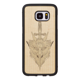 Gargoyle Illustration Wood Samsung Galaxy S7 Edge Case