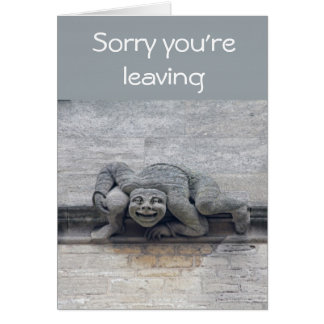 Gargoyle leaving card