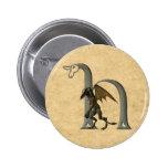 Gargoyle Monogram H Pinback Button