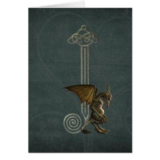Gargoyle Monogram J Greeting Card