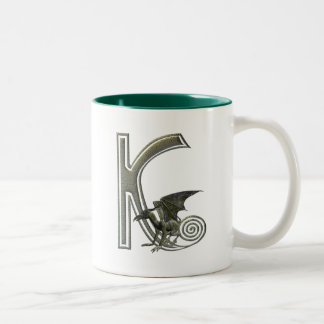 Gargoyle Monogram K Two-Tone Mug