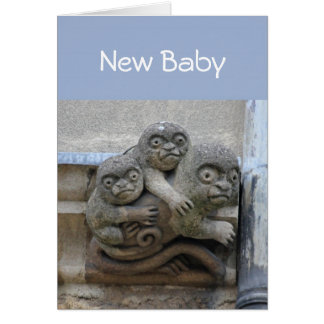 Gargoyle New Baby card