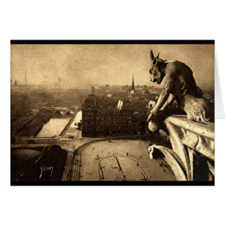 Gargoyle Notre Dame, Paris France 1912 Vintage Card