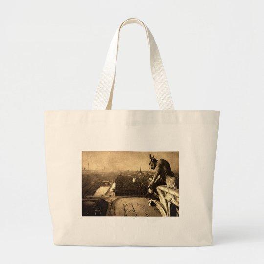 Gargoyle Notre Dame, Paris France 1912 Vintage Large Tote Bag
