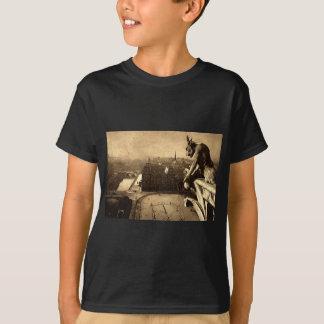 Gargoyle Notre Dame, Paris France 1912 Vintage T-Shirt