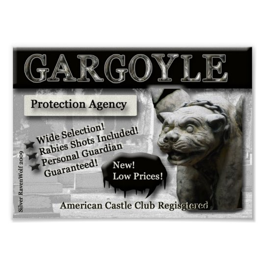 Gargoyle Protection Agency Canvas Print
