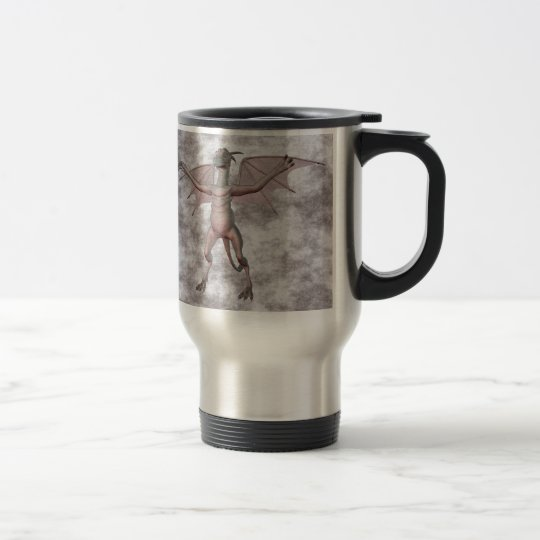 Gargoyle w00t Grey mist Travel Mug