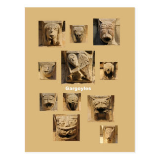 Gargoyles and grotesques postcard