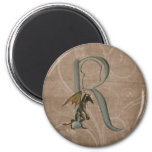 Gargoyles Monogram R 6 Cm Round Magnet